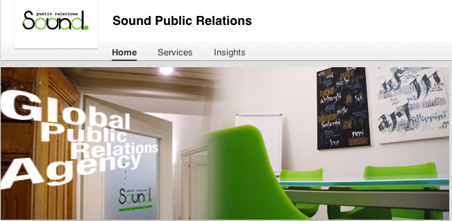 LinkedIn - Sound PR company page